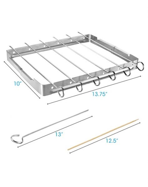 Stainless Steel Barbecue Shish Kabob Set