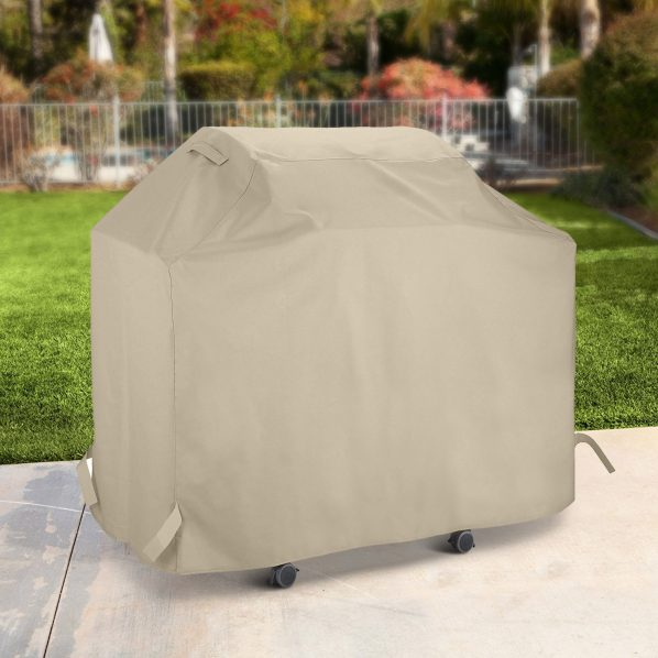 White Gas Grill Cover 53 Inch For Outdoor Charcoal